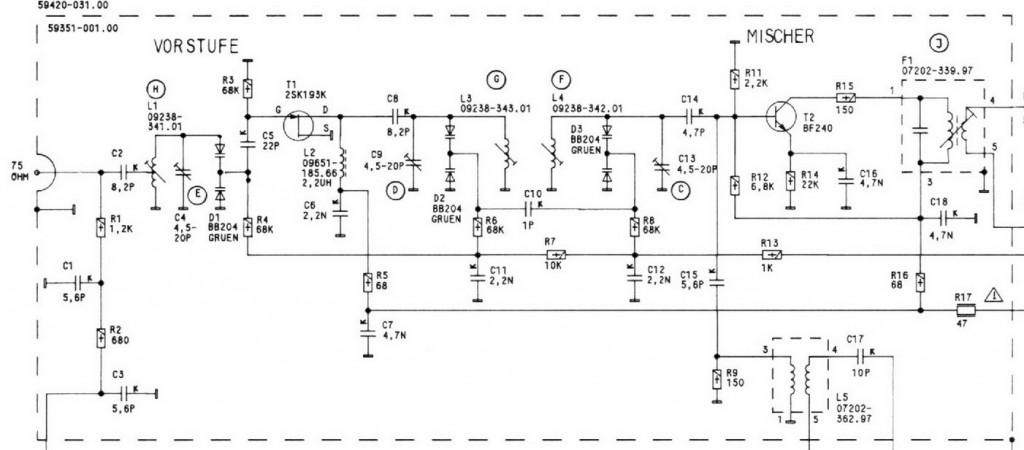 schema pre antenna R30