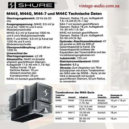 SHURE M44 ANNI 70 IMMAGINE