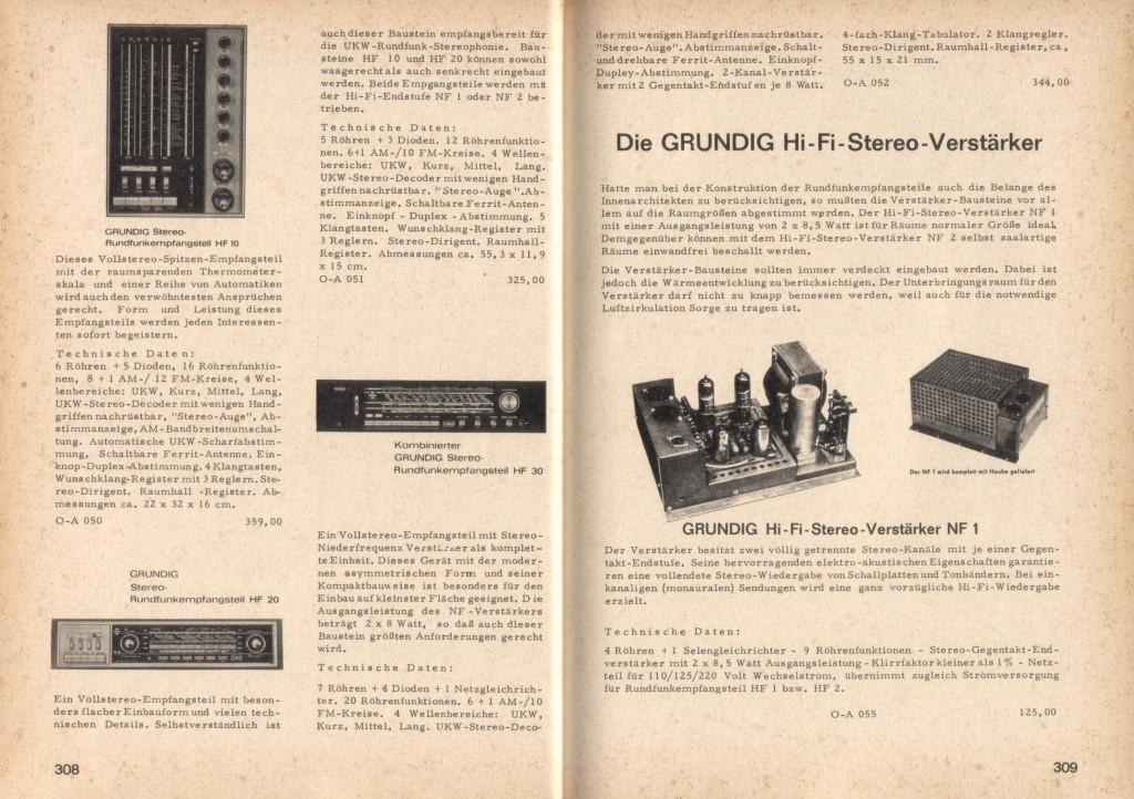 GRUNDIG - Preceiver HF10 e Finale stereo NF1 a valvole