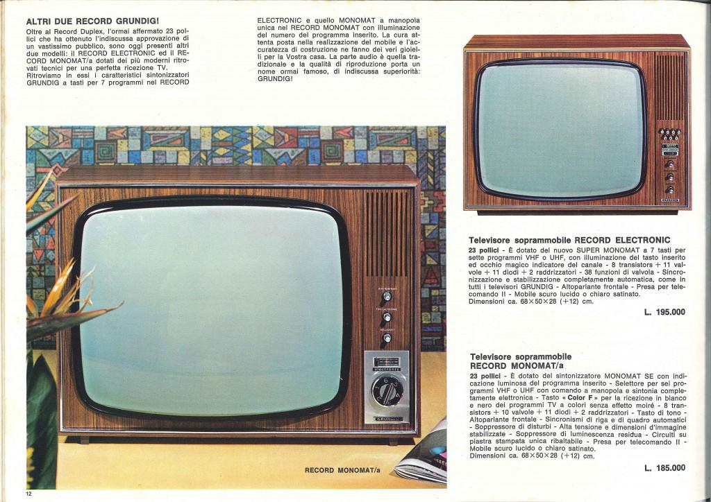GRUNDIG REVUE 1968 - Il nostro televisore era il monomat con 6 canali a selezione rotante