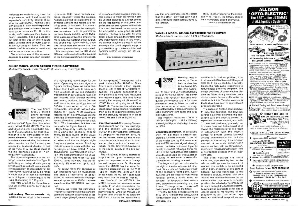 "Test M95 ED da ""Popotronics"" 11-1975"