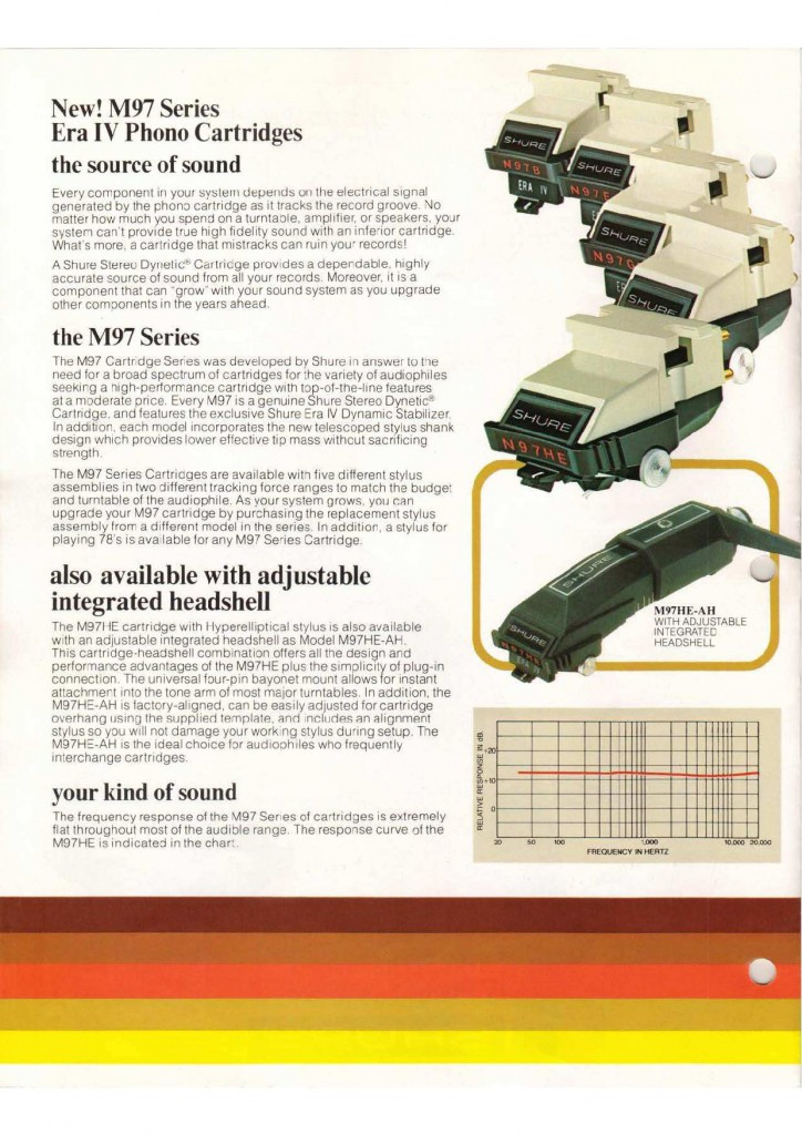 La gamma della famiglia M97 del 1980 (da non confondersi con quella in vendita attualmente)