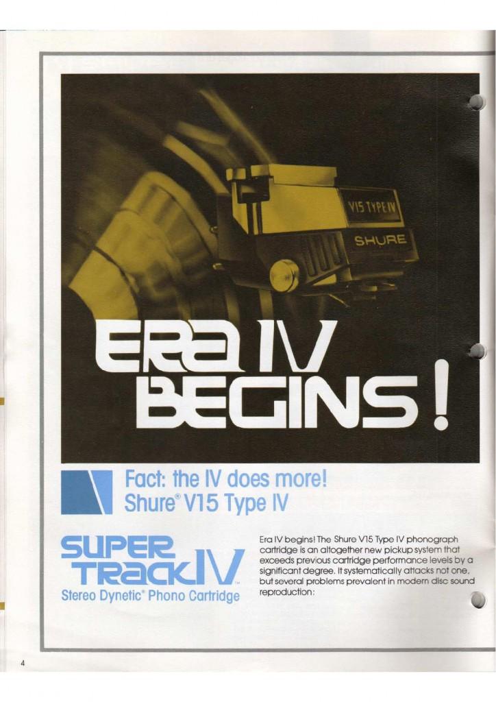 Catalogo Shure 1979: inizia l'era IV°!