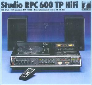 Lo Studio RPC 600 TP come da catalogo, praticamente uguale a quello di Thomas