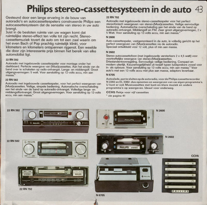 PHILIPS AUTORADIO PAPA' CATALOGO 1970-2